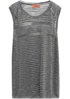 Missoni Woman Metallic Knitted Top Silver
