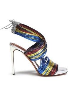 Missoni Woman Metallic Leather Sandals Multicolor