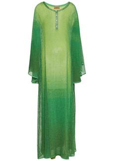 Missoni Woman Metallic Crochet-knit Maxi Dress Green