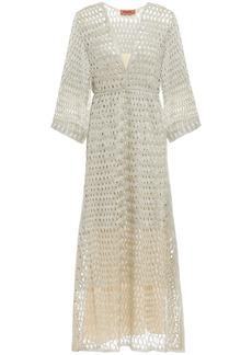Missoni Woman Metallic Open-knit Midi Dress Platinum