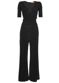 Missoni Woman Metallic Ribbed-knit Jumpsuit Black