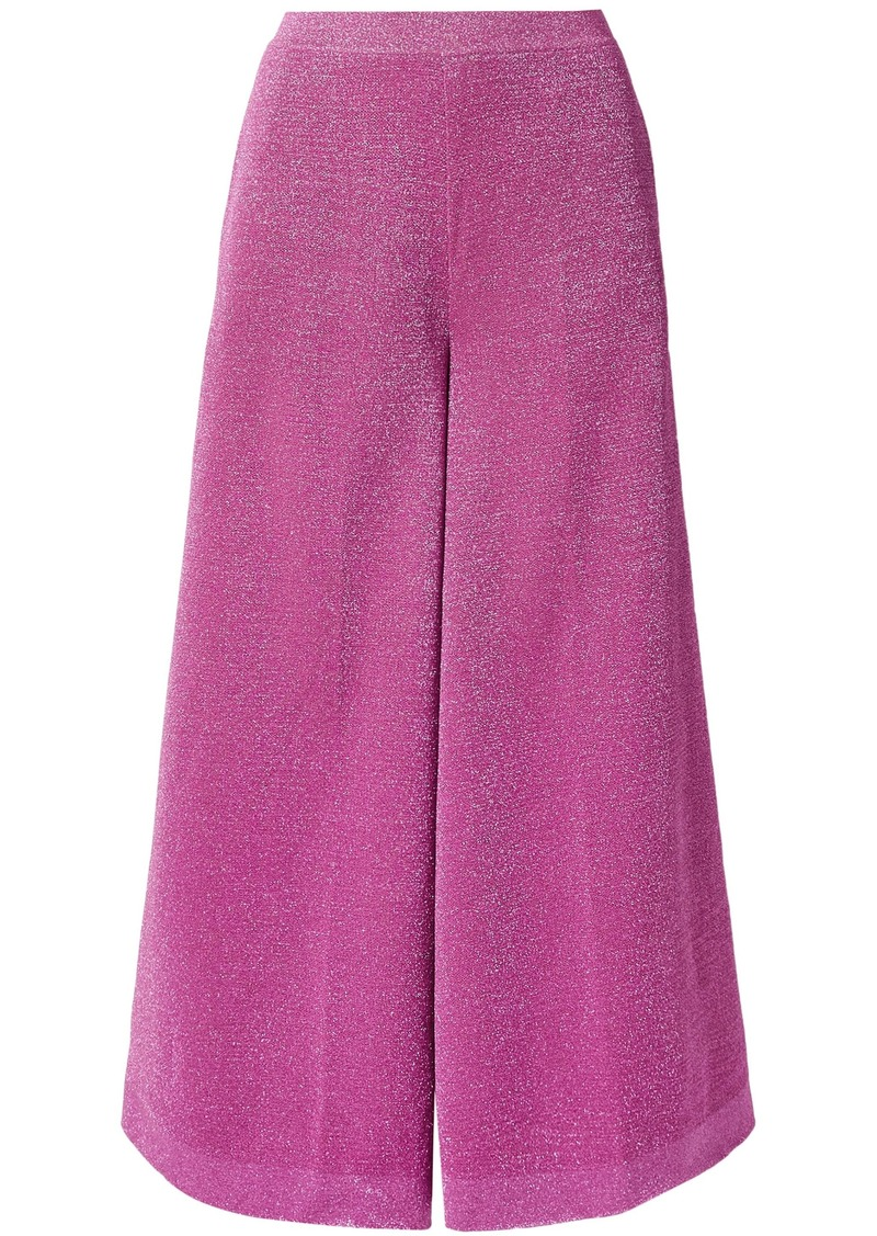 Missoni Woman Metallic Stretch-knit Culottes Magenta
