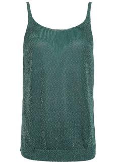 Missoni Woman Metallic Stretch-knit Tank Emerald