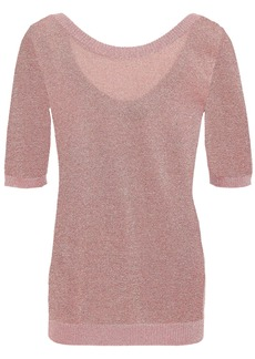 Missoni Woman Metallic Stretch-knit Top Rose Gold