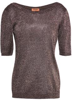 Missoni Woman Metallic Stretch-knit Top Bronze