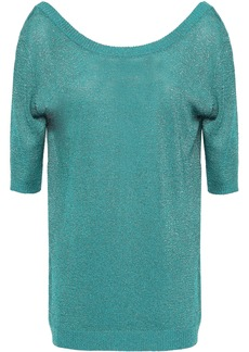 Missoni Woman Metallic Stretch-knit Top Turquoise