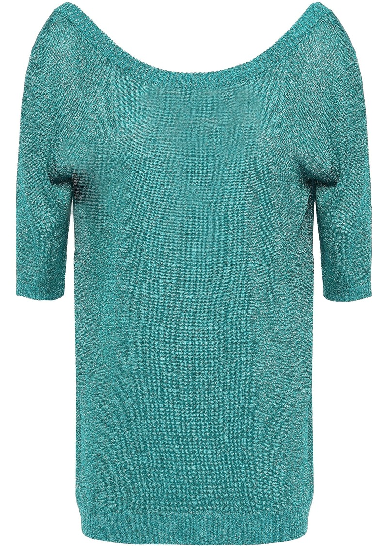 Missoni Woman Metallic Stretch-knit Top Turquoise