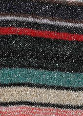 Missoni Woman Metallic Striped Crochet-knit Scarf Multicolor