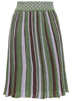 Missoni Woman Metallic Striped Stretch-knit Skirt Lavender