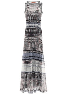 Missoni Woman Open-knit Maxi Dress Multicolor