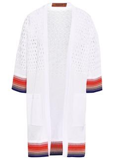 Missoni Woman Open Knit-paneled Cotton Cardigan White