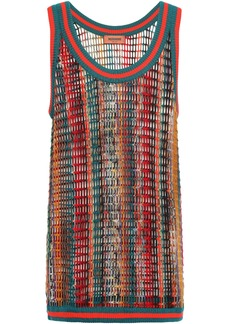 Missoni Woman Open-knit Wool-blend Tank Multicolor