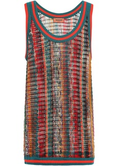 Missoni Woman Open-knit Wool-blend Top Multicolor