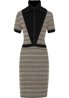 Missoni Woman Paneled Checked Wool-blend Dress Beige