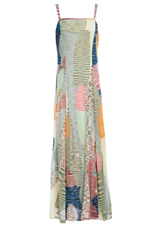 Missoni Woman Patchwork-effect Crochet-knit Maxi Dress Light Green