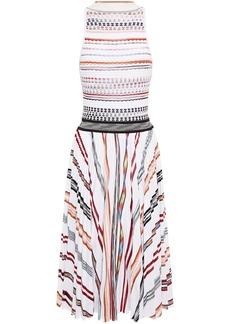Missoni Woman Pleated Striped Crochet-knit Cotton-blend Dress White