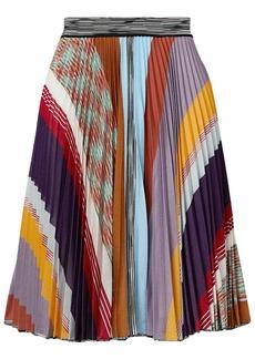 Missoni Woman Pleated Striped Crochet-knit Skirt Multicolor