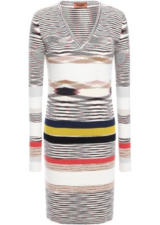 Missoni Woman Intarsia Cashmere Mini Dress Ivory