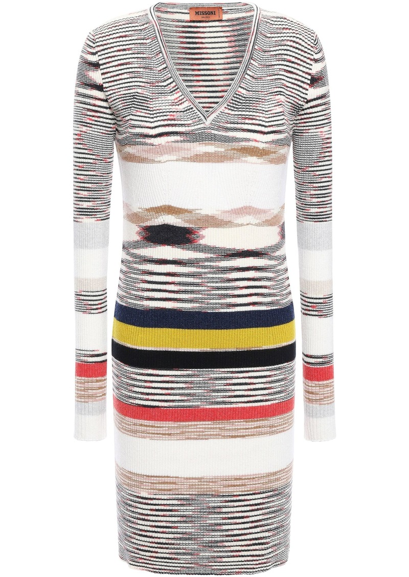 Missoni Woman Intarsia Cashmere Mini Dress Ivory