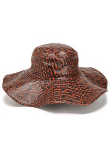 Missoni Woman Printed Coated Leather Hat Light Brown
