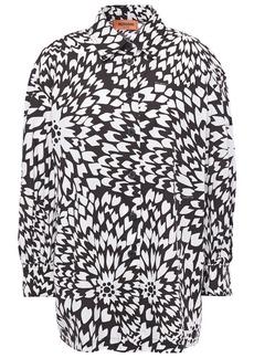 Missoni Woman Printed Cotton-poplin Shirt White