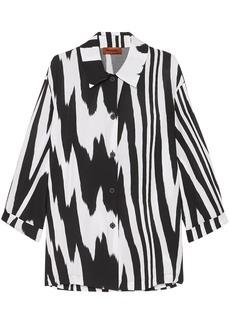 Missoni Woman Printed Mousseline Shirt Black