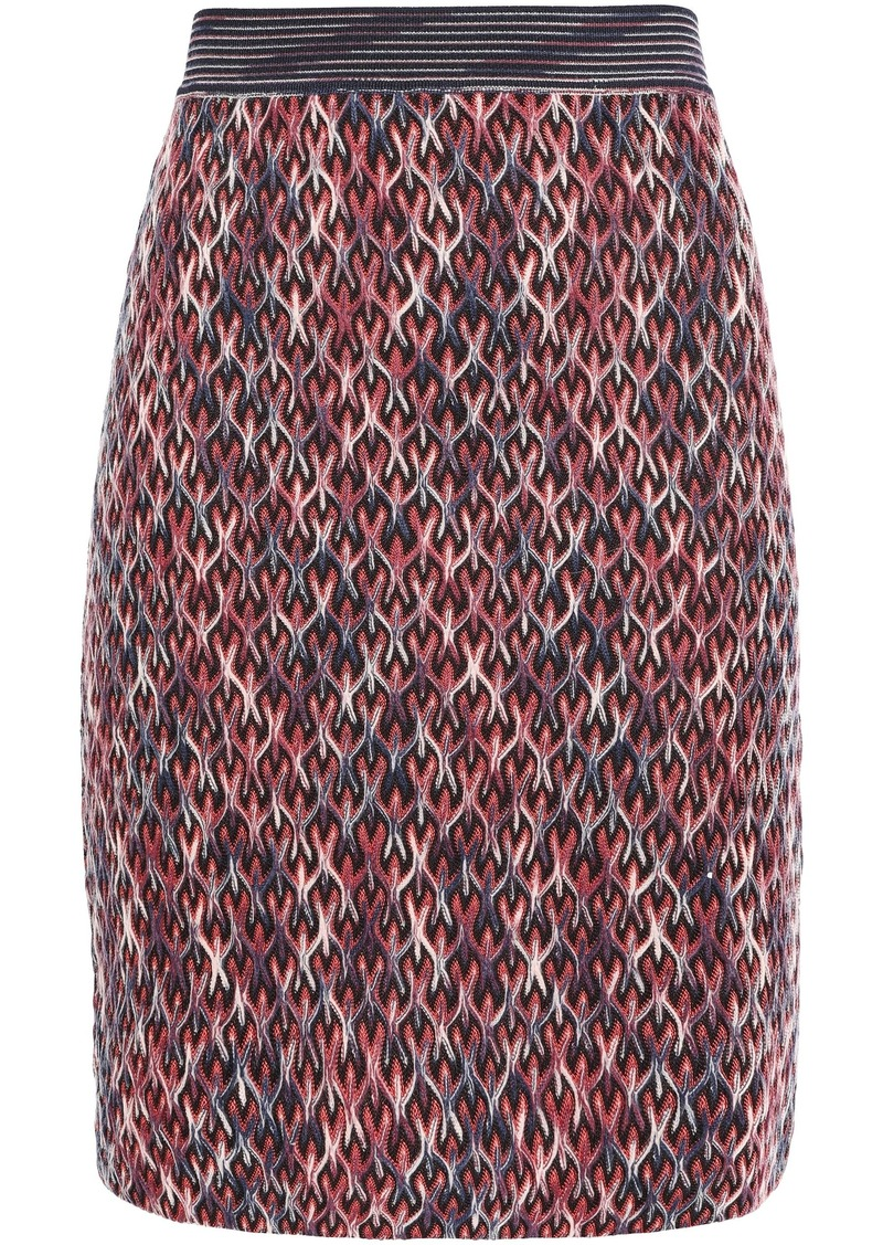 Missoni Woman Knitted Mini Skirt Navy