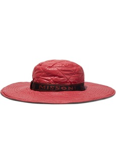 Missoni Woman Quilted Shell Hat Crimson