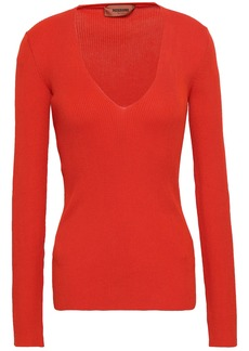 Missoni Woman Ribbed Cotton Top Tomato Red
