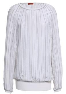 Missoni Woman Ribbed-knit Top White