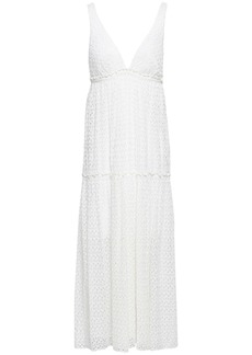 Missoni Woman Ruffle-trimmed Crochet-knit Midi Dress White