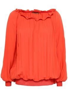 Missoni Woman Ruffle-trimmed Woven Blouse Bright Orange