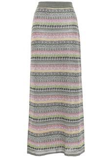 Missoni Woman Silk-blend Jacquard Maxi Skirt Yellow