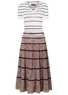 Missoni Woman Striped Crochet-knit Cotton Midi Dress White