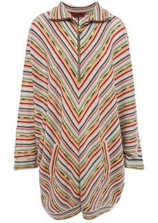 Missoni Woman Striped Crochet-knit Wool-blend Mini Dress Multicolor