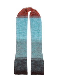 Missoni Woman Dégradé Crochet-knit Scarf Light Blue