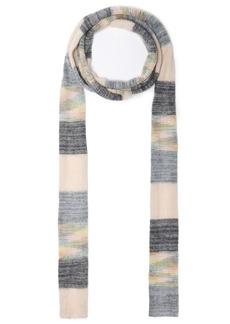 Missoni Woman Striped Wool-blend Scarf Gray