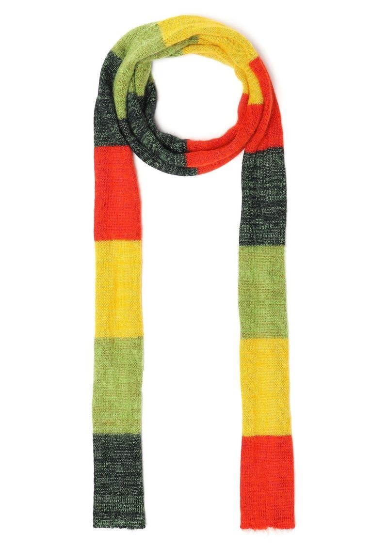 Missoni Woman Striped Wool-blend Scarf Green