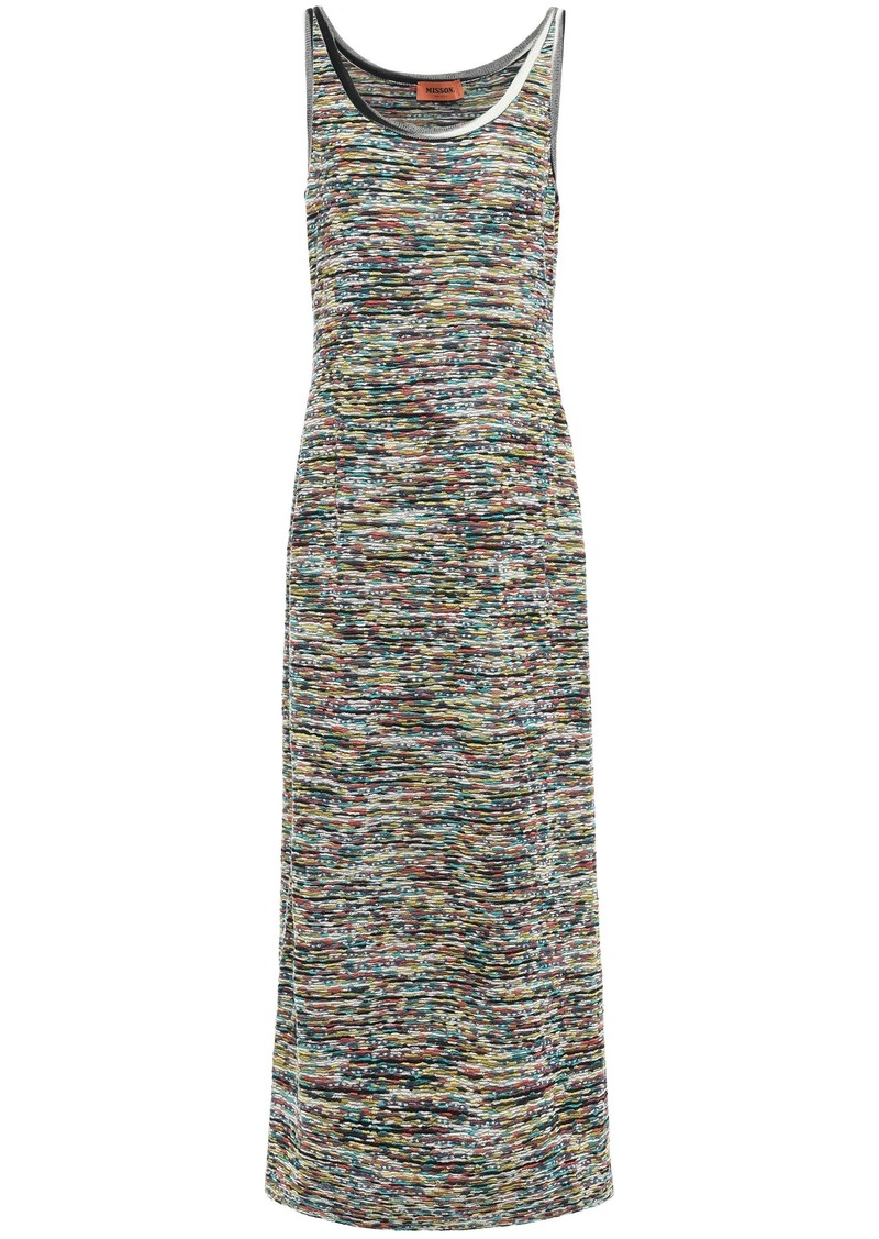 Missoni Woman Wool-blend Maxi Dress Multicolor