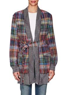 Missoni Women's Embellished Plaid Cotton-Blend Cardigan