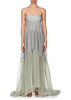 Missoni Women's Metallic Knit Strapless Gown