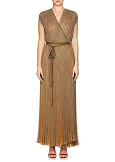 Missoni Women's Metallic Rib-Knit Wrap Dress