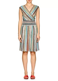 Missoni Women's Metallic Striped A-Line Dress