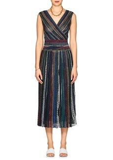 Missoni Women's Metallic Striped Maxi Dress