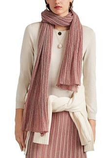 Missoni Women's Operato Metallic Striped Rib-Knit Scarf - Pink
