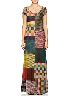 Missoni Women's Patchwork Alpaca-Blend Maxi Dress