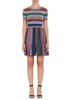 Missoni Women's Striped Metallic Knit A-Line Dress