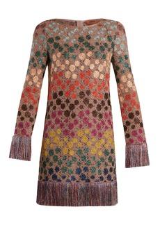 Missoni Zigzag crochet-knit mini dress