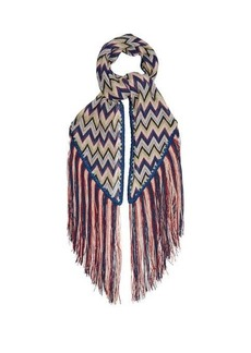 Missoni Zigzag fringe-trimmed scarf
