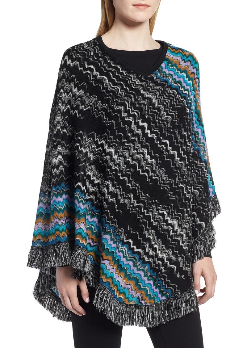 509e145992a53 Missoni Missoni Zigzag Fringe Wool Poncho